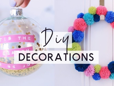 DIY Christmas Decorations ???? ❄️ Bright & Colourful Christmas Room Decor DIYs