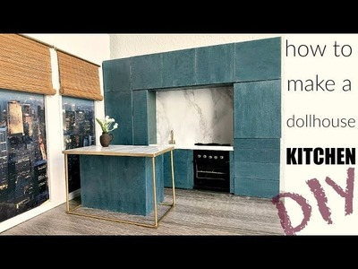 DIY doll crafts: how to make a doll  kitchen