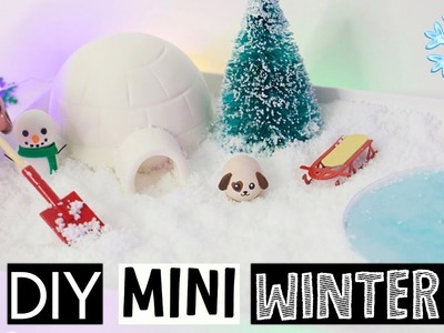 DIY MINI WINTER ZEN GARDEN - Stress Relieving Slime Desk Decor!