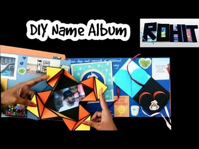 DIY Name Album | How to make scrapbook | Valentine Scrapbook Ideas |