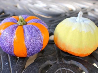 DIY Ombre and Glitter Pumpkins!