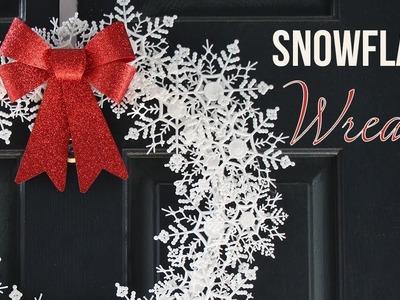 DIY Snowflake Wreath - Corona Navideña (DOLLAR TREE)