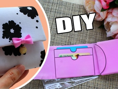 DIY WALLET TUTORIAL NO SEW AND FAST FOR WOMAN