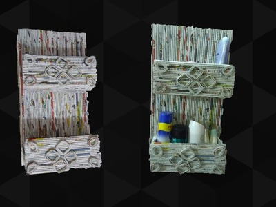 Easy and Durable Newspaper wall mount rack   Newspaper organizer   Art With Neha 102