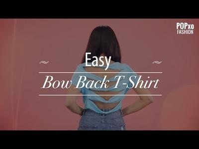 Easy Bow Back T-Shirt - POPxo Fashion