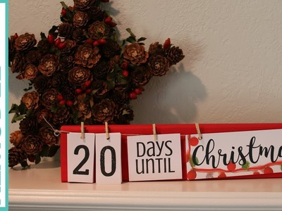 Easy DIY Holiday Countdown Board for Christmas and Other Holidays