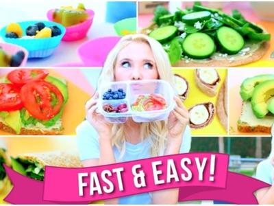 Easy & Fast School Breakfast and Lunch Ideas!