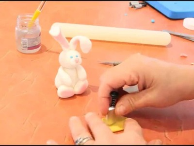 Easy How to Make a Sugar Paste Bunny Rabbit Topper