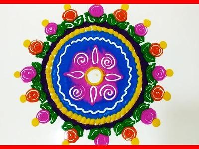 Easy Rangoli Art Designs with Simple Kolam | Latest Rangavalli by Sunitha