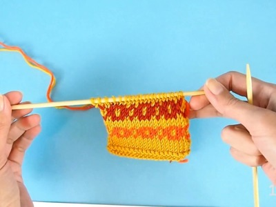 Easy way to knit Fair Isle and other stranded colorwork in the round and flat