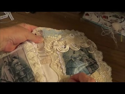 Fabric.Lace.Doiley Book Part 2 - Attaching the Pages