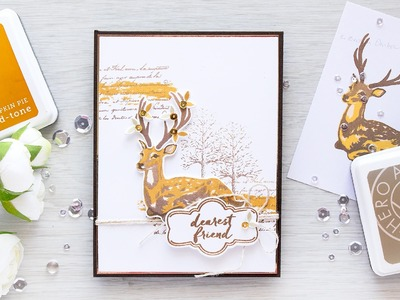 Fall Card with Holiday Stamps & Easier Way to Align Color Layering Images