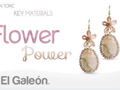 Fashion Topic El Galeón Flower Power Earrings (Aretes con Flores de Cristal)