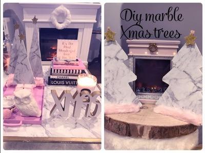 GLAM CHRISTMAS HOME DECOR -DIY MARBLE CHRISTMAS TREES