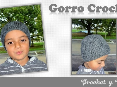 Gorro con punto cesta a crochet (ganchillo)