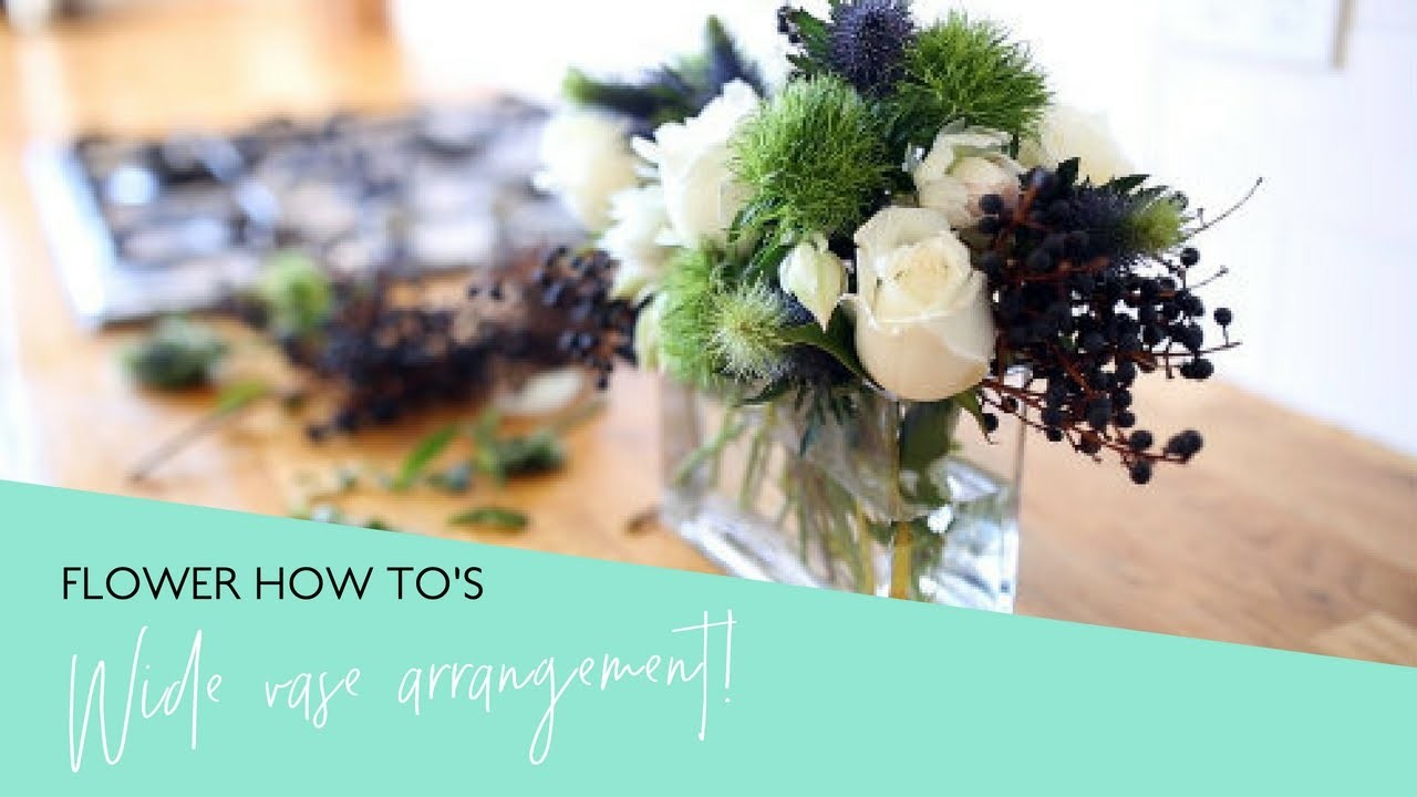 How To: Arrange Flowers Perfectly in a Wide Rectangular Vase