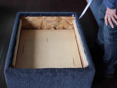 How to change a Regular Ottoman to a Storage Ottoman