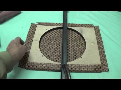 How to Cover A Speaker Baffle with Grill Cloth
