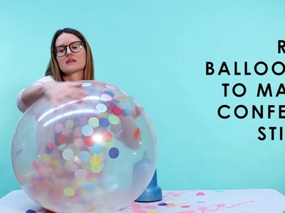 How to Inflate Confetti Balloons