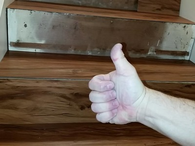 How to install LVP Stairs step by steps.