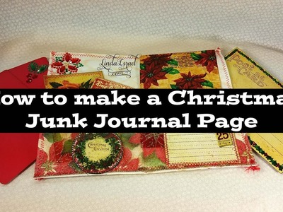 How to make a Christmas Junk Journal Page