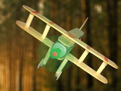 How to Make A Plane With DC Motor  - Homemade wooden plane DIY