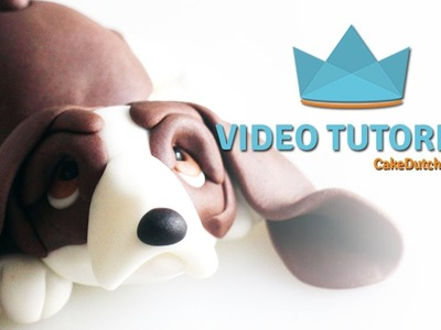 How to make an Basset Hound Cake Topper - Cake Decorating Tutorial
