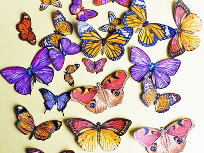 How to Make - Butterflies Decoupage Spring Decoration - Step by Step | Motyle