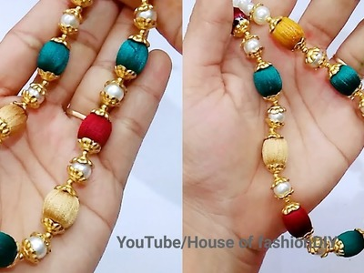 How To Make Silk Thread Jewellery At Home. !