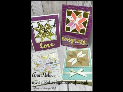How To Use The Christmas Quilt Bundle From Stampin Up!