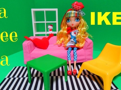 La Dee Da Pop Art Modern Doll IKEA Furniture Toy Deboxing Barbie Monster High