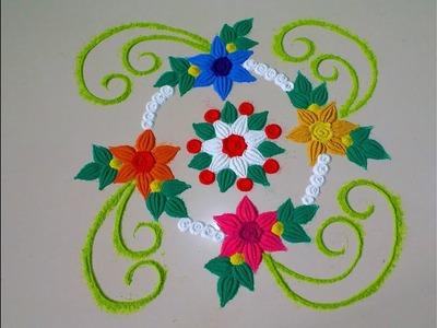 Latest unique and beautiful rangoli design.by DEEPIKA PANT