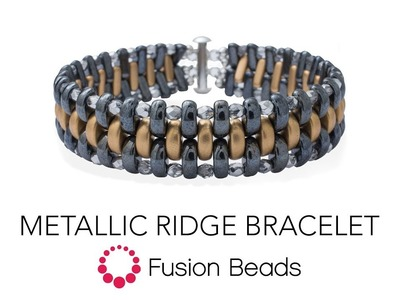 Learn how to make the Metallic Ridge Bracelet by Fusion Beads