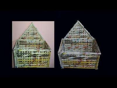 Light weight Newspaper wall mount rack | Newspaper organizer | Art With Neha 104