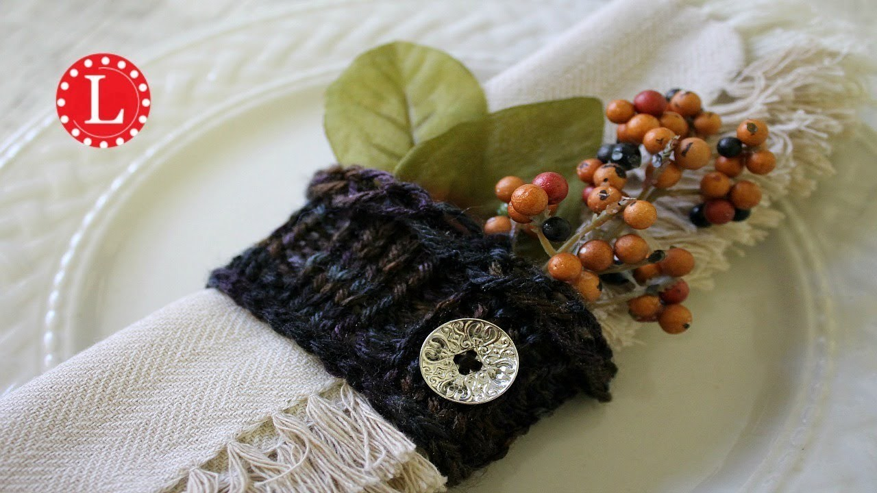 LOOM KNITTING Napkin Holder Pattern on a Round Loom EASY Project | Rib Stitch | Holiday | Loomahat