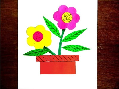 Make Flower By Cut And Paste Paper Craft Activity