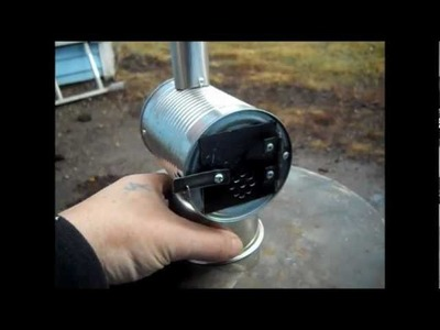 MINIATURE WOODSTOVE ( HOW TO Build and Burn Test ) Part 2