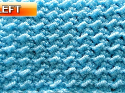 Moss Stitch \ Crunch Stitch - Left Handed Crochet Tutorial