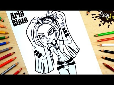 My Little Pony |Como dibujar a Aria Blaze |How to draw Aria Blaze  | Easy art