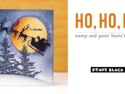 PB&J   Paint and Stamp a Night Sky for Santa   Peaceful Winter Collection