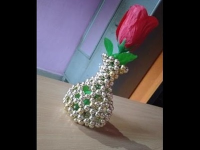 Pearl Beaded Flower Pot for Beginners