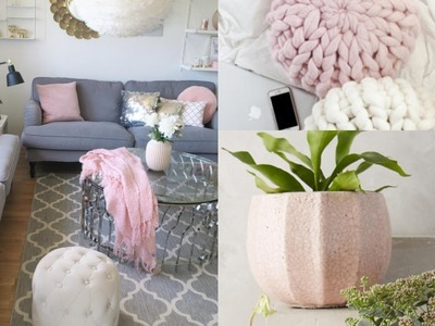 SHOP WITH ME: ROOM RECREATION | ONLINE HOME DECOR | IDEAS FOR A PINK & GREY LIVING ROOM | INSPO