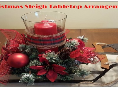 Tricia's Creations: Christmas Sleigh Tabletop Arrangement