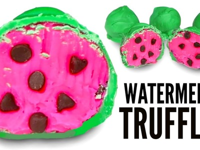 WATERMELON CANDY TRUFFLES - How To Make Candy Chocolate Truffles DIY