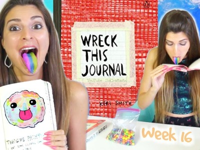 WRECK THIS JOURNAL 16 : Stranger Things, Tongue Painting, & Clouds. SoCraftastic