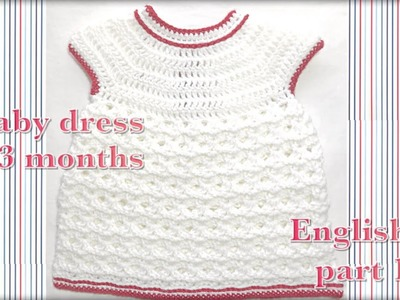 01 Newborn crochet Baby dress Video one #100