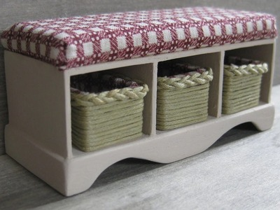 1.12th Scale Dolls House Storage Bench with Baskets Tutorial Part Two