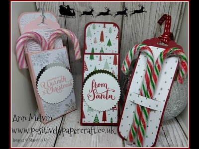 #5 Festive Friday Candy Cane Treat Box With Pull Out Tag