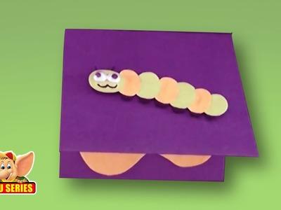 Arts & Crafts - How to Make a Caterpillar Greeting Card