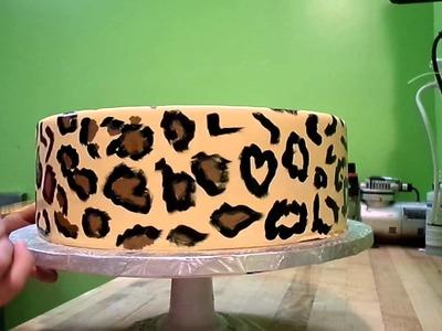 Cheetah Painted Cake Tutorial Part 2
